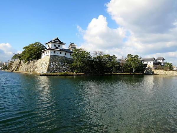 今治城の堀と主郭