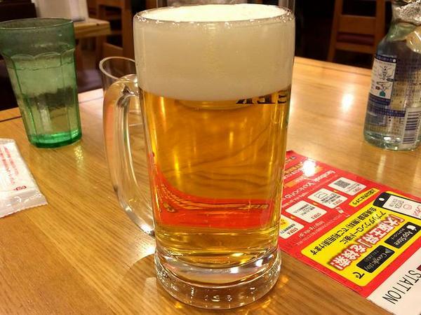 ビール生中 520円