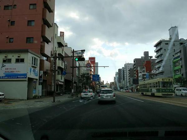広島市内走行中