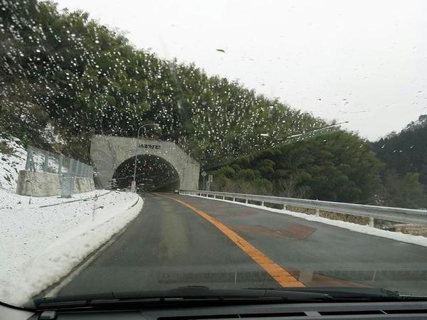 雪景色and雨の中を移動