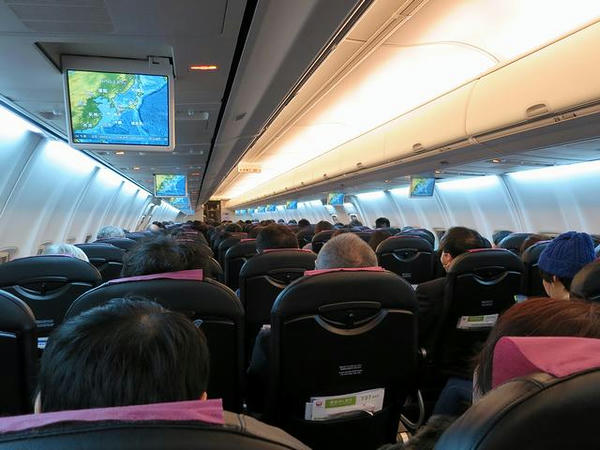 JAL SKY NEXTの機内
