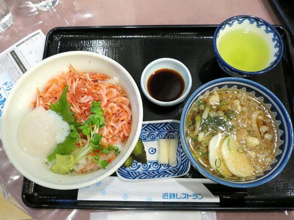 駿河湾桜海老丼 1280円 + 小うどんセット 200円