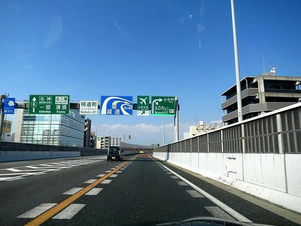 名古屋高速走行中