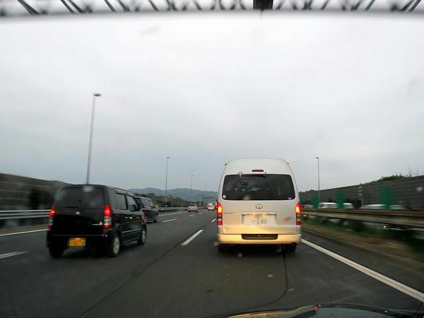 音羽蒲郡IC付近渋滞中