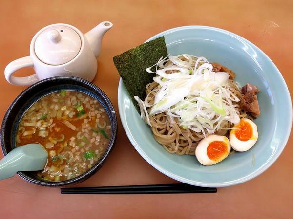 濃香えび醤油つけ麺(味玉バージョン) 970円