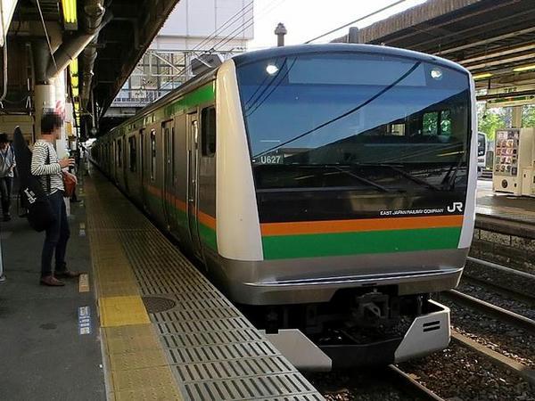 宇都宮駅から湘南新宿ラインで