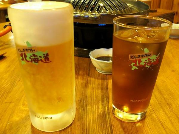 生ビール 520円 と ウーロン茶 180円