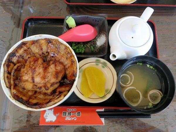 特上ミックス豚丼ハーフ 870円 + 豚丼茶漬け用だし汁 170円