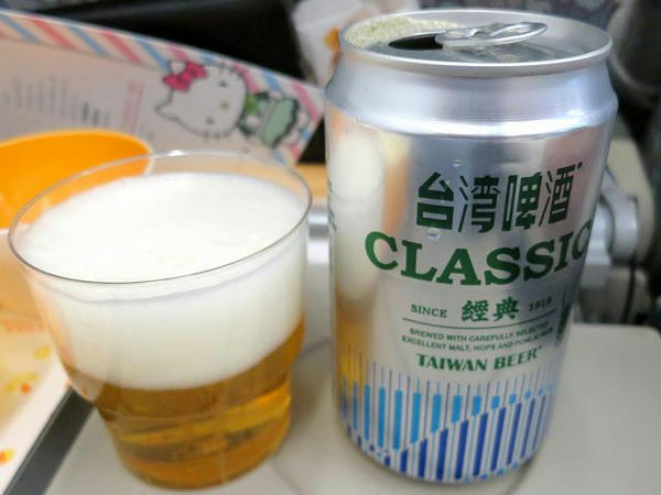 初めていただく台湾ビール