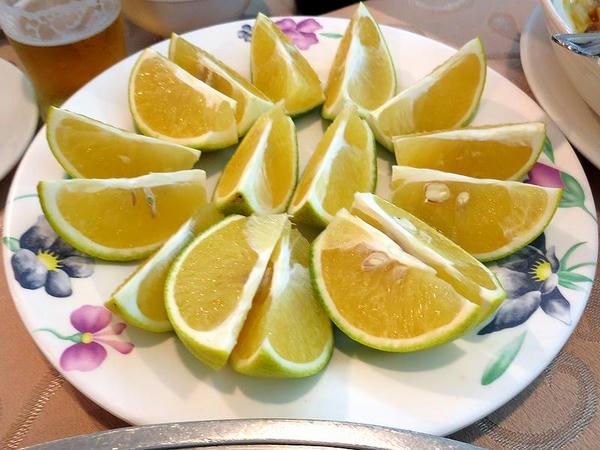 デザートの柑橘