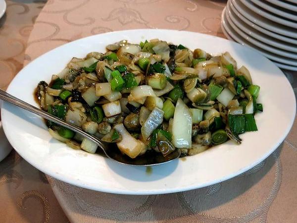 牡蠣の豆鼓炒め