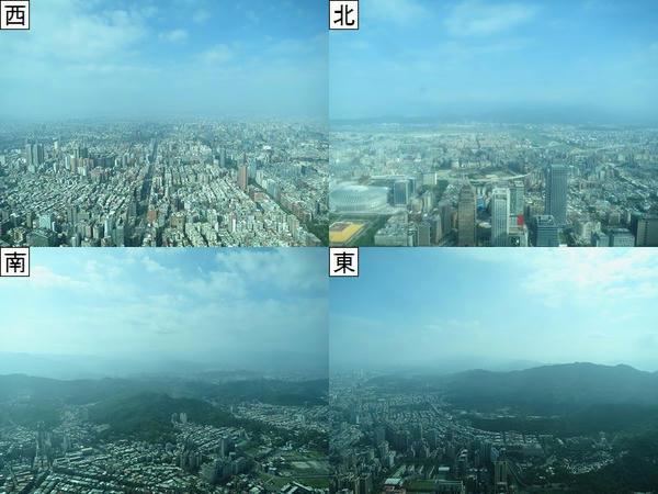 89階の屋内展望台からの眺め