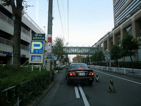 第1駐車場入口付近
