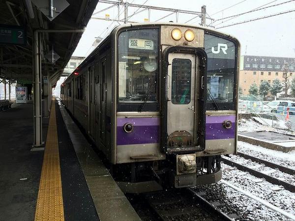 乗車したJR東北本線の列車