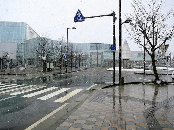 新庄駅と最上広域交流センターゆめりあ