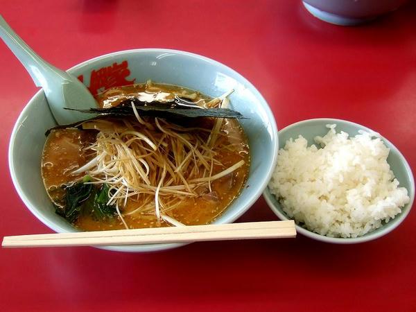 特製味噌ネギラーメン(麺普通・味普通・脂普通) 790円 + 半ライス 110円