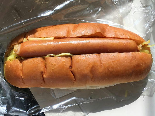 カレー味ホットドッグ 250円