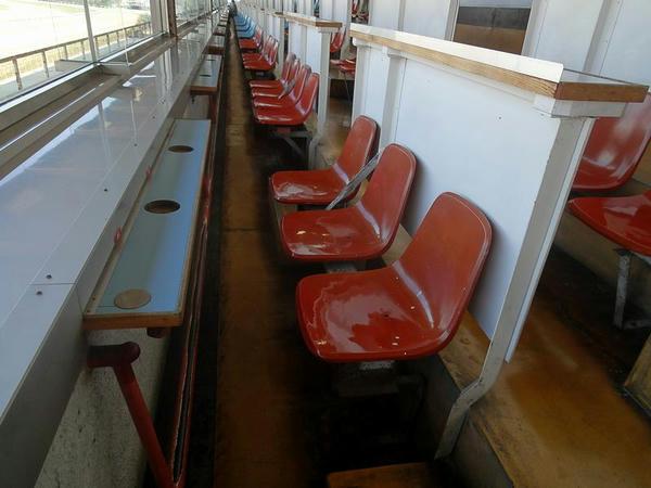 特別観覧席の椅子