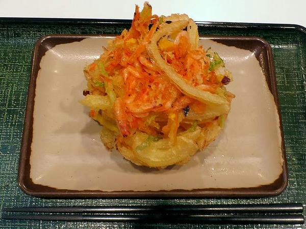桜海老と野菜のかきあげ 290円