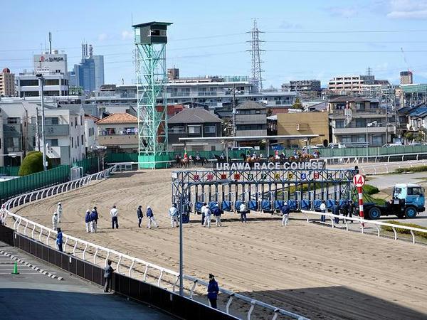 第6レース(1400m)のスターティングゲート設営