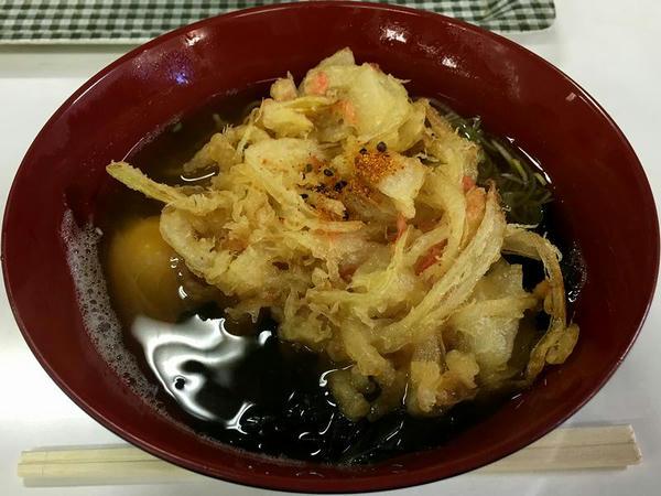 野菜天そば 480円 + 生玉子 50円