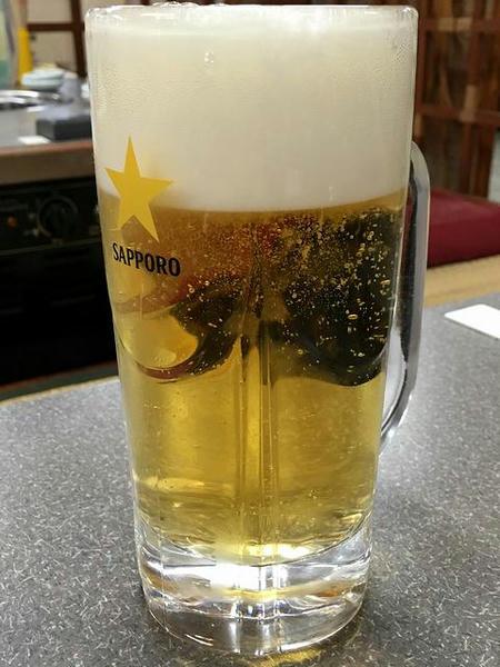 生ビール(中) 686円