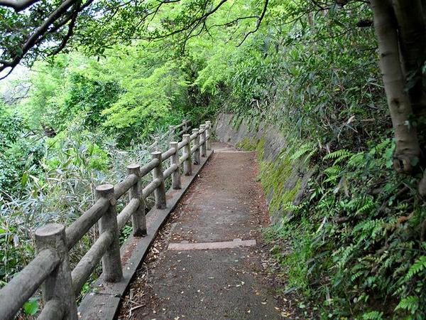 池の端濠(西外堀)へと続く小径