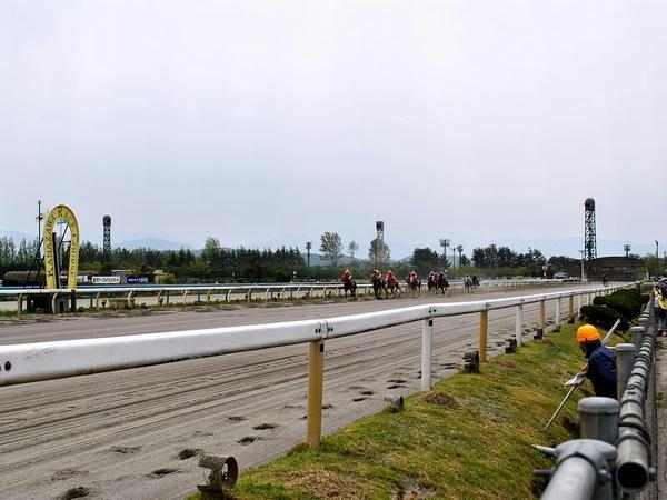 最後の直線走路(第1レース)