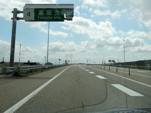 高岡北ICから能越道へ