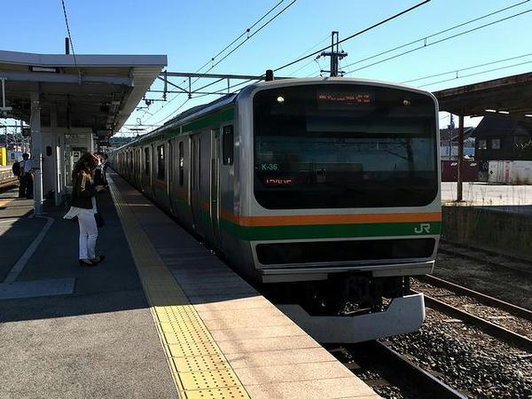 JR上野東京ライン上り普通列車