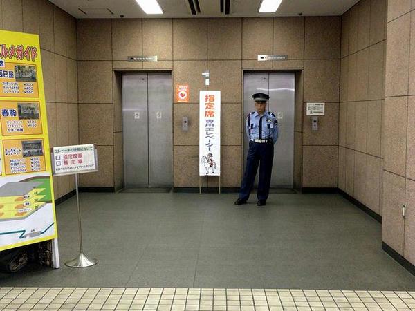 指定席専用エレベーター