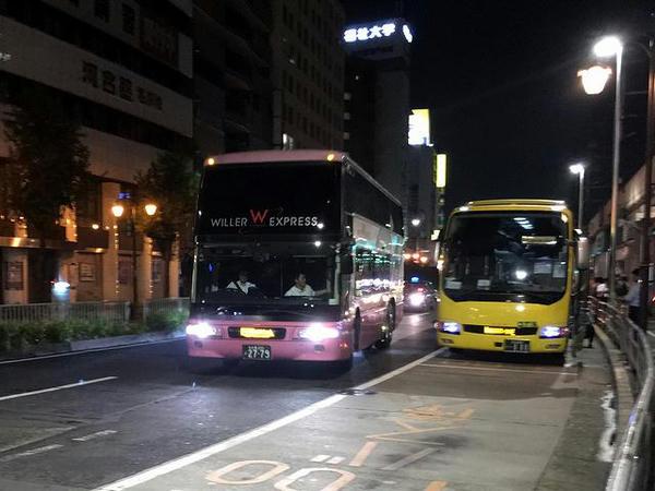 バス停に入ってきたWILLER EXPRESS TDR行きT452便