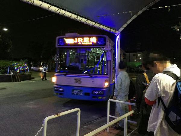 JR尼崎駅行きの無料送迎バス