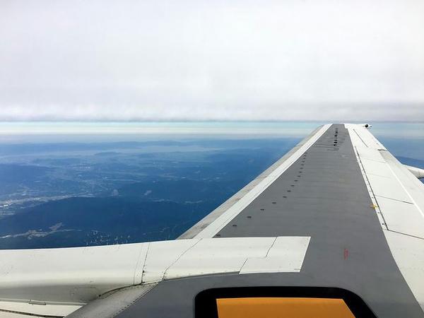 琵琶湖?を眺めつつ飛行