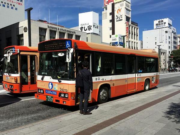 姫路駅前に到着した路線バス