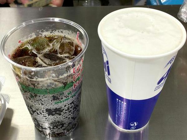 生ビール 410円 と コカコーラ 150円