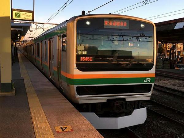 JR上野東京ラインの普通列車