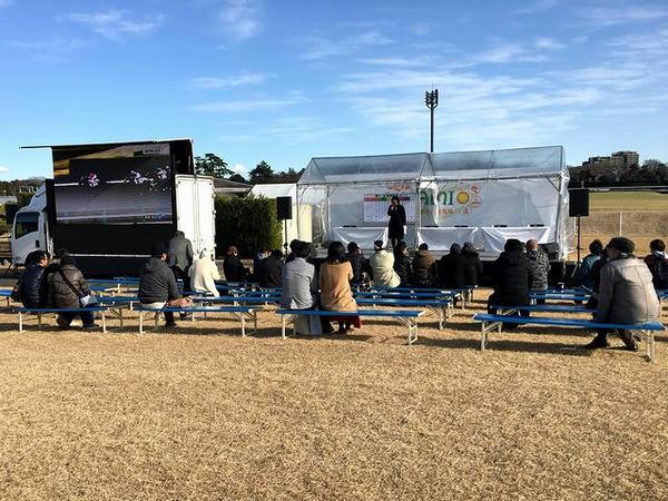 UMAMI PARKの特設ステージ
