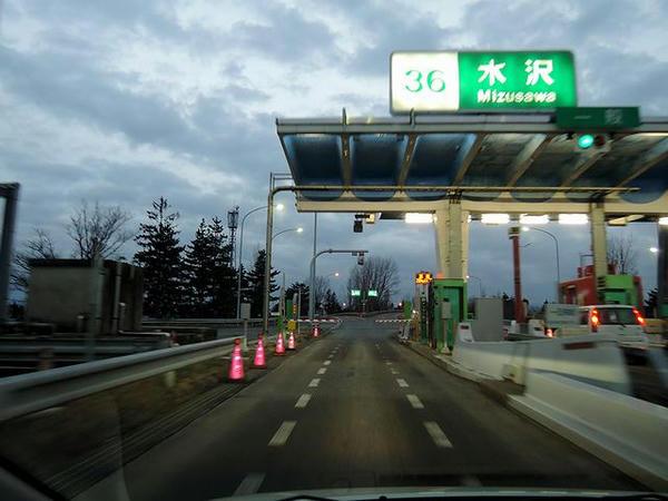 水沢ICから東北道へ