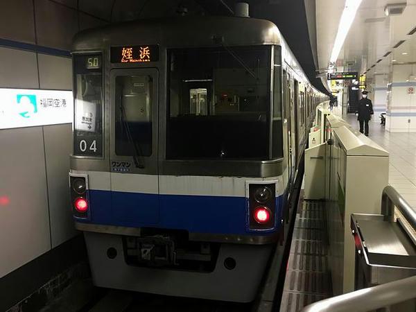 乗車した福岡市地下鉄空港線の普通列車