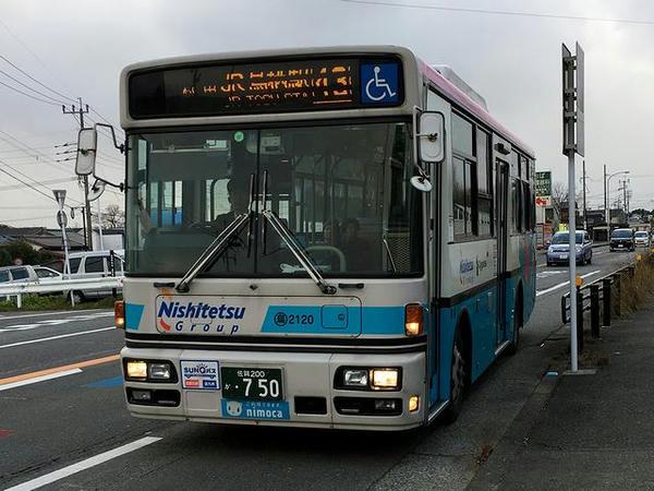 帰りに乗車した路線バス