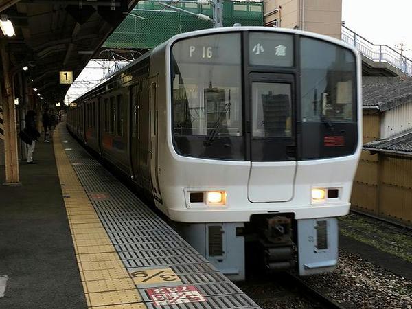 鳥栖駅から乗車した快速列車