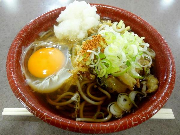 かきあげ(そば) 410円 + 生卵 50円
