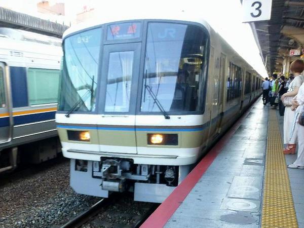 乗車したJR神戸線快速列車