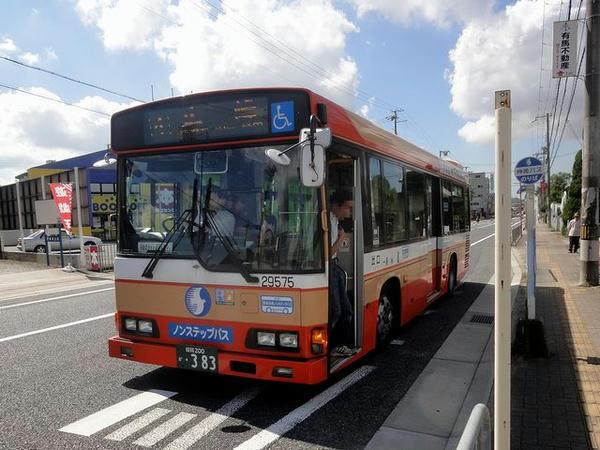 乗車した路線バス