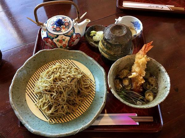 海老つけ天そば(ダッタン・特盛) 1250円