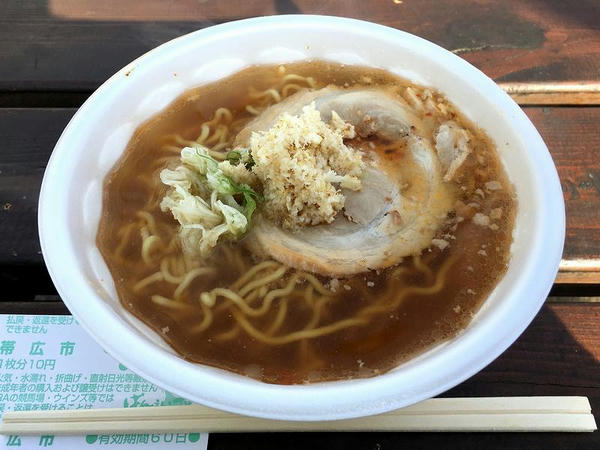 山わさびの牛じゃん麺 600円 (ら~めん 胡風)