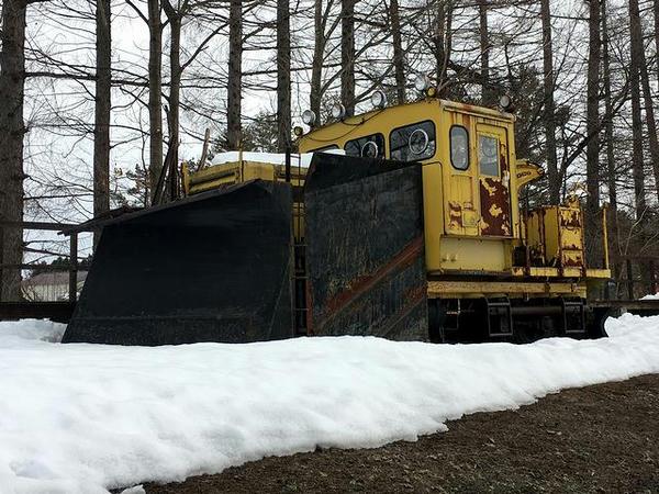 保存されている排雪用モーターカー