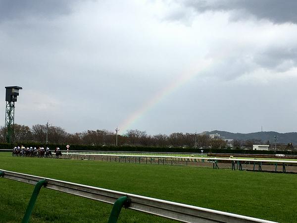 競走馬と虹