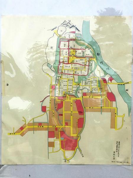 慶応3年下館城下町絵図